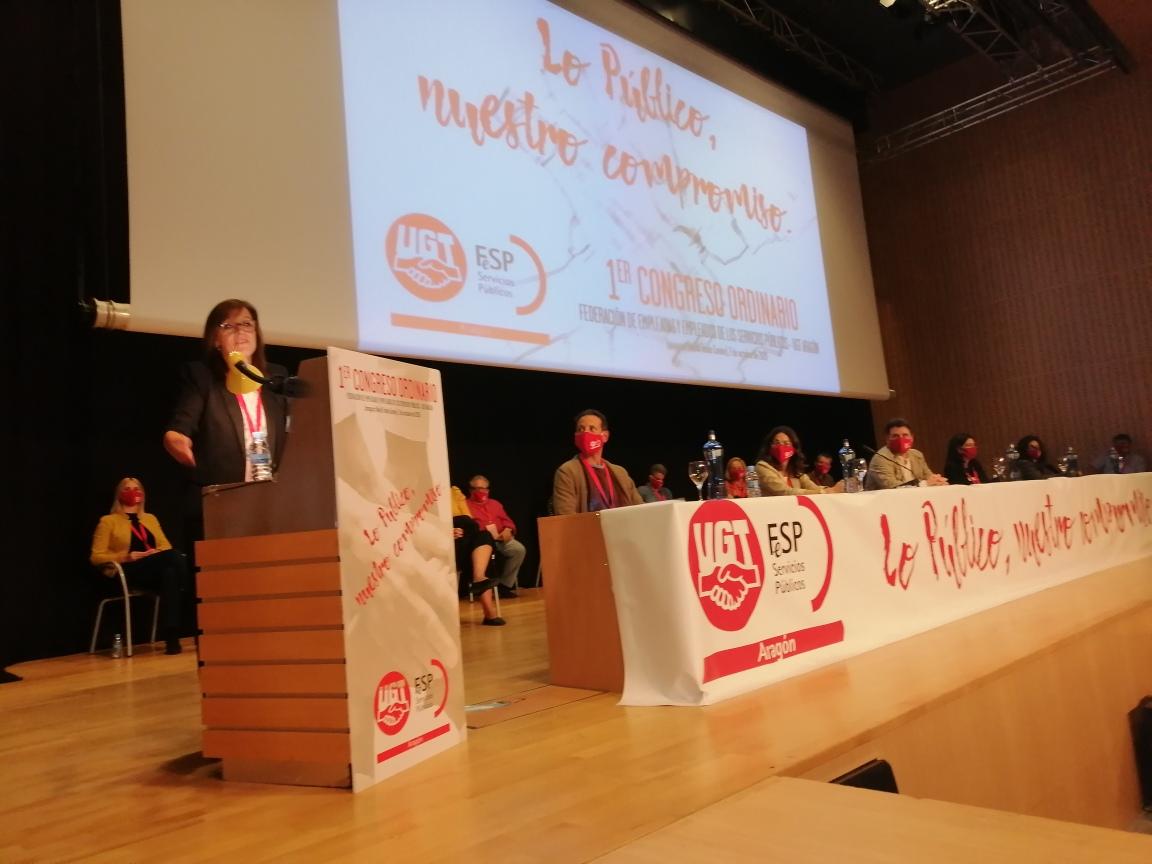 IAlicia Hernández, reelegida secretaria general de FeSP UGT Aragón